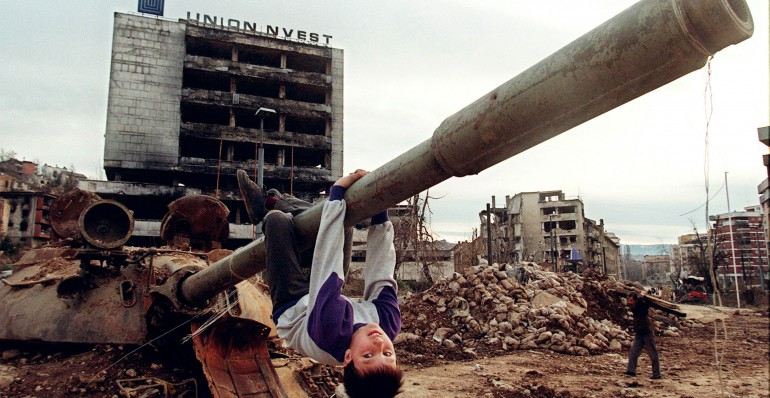 During the Bosnian war, UN peacekeeping forces were present throughout the former Yugoslavia in cities such as Sarajevo. During the siege of Sarajevo alone, nearly 14,000 people lost their lives.